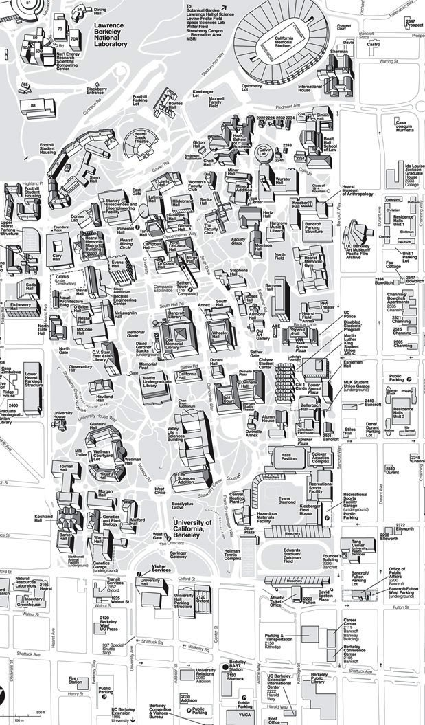 Berkeley Campus Map campus map Berkeley Campus Map