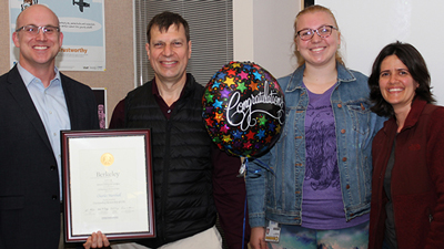 Teaching Award, IB Professor Charles Marshall and graduate student Kat Magoulick