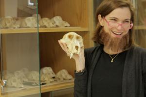 Leslea Hlusko with Beard